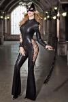 Déguisement Catwoman sexy - Combinaison moulante, masque et fouet, transformez vous en justicière sexy chargée de faire régner la (votre) loi.