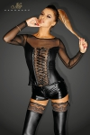 Corsage Narcissist - Un magnifique corsage au design très élaboré en tulle transparent et wetlook.